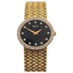 Piaget Ladies Gold Diamond and Stone Dial Quartz Wristwatch