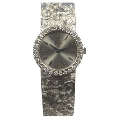 Piaget Ladies White Gold and Diamond Watch with Rare Tree Bark Texture Bracelet