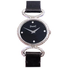 Piaget Ladies White Gold and Diamond Wrist Watch