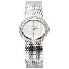 Piaget Ladies White Gold Diamond Manual Wristwatch