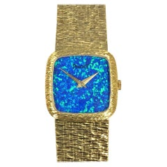Piaget Ladies Yellow Gold and Opal Dial Mechanical Wristwatch
