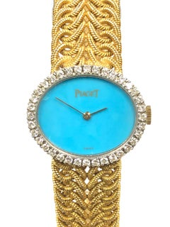 Piaget Ladies yellow Gold Diamond and Turquoise Watch
