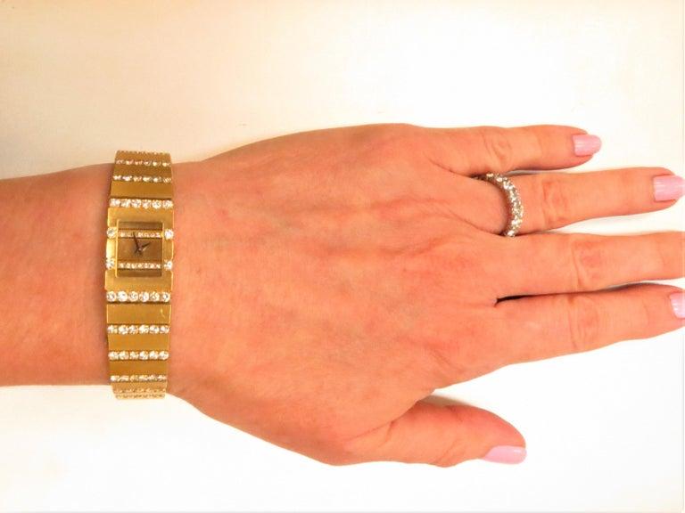 Women's Piaget Ladies Yellow Gold Diamond Mini Polo Bracelet quartz Wristwatch For Sale