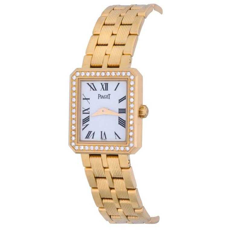 Piaget ladies Yellow Gold Diamond Quartz Wristwatch Ref 5355M601D