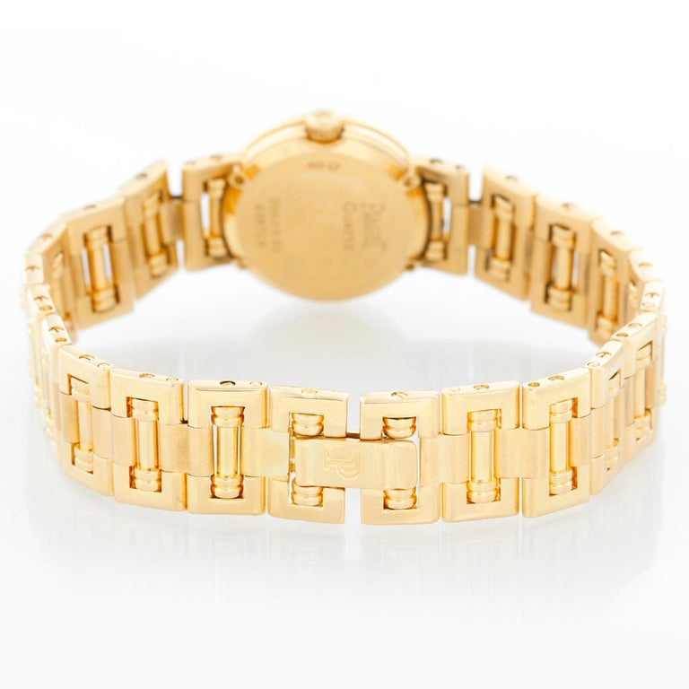 Piaget Ladies Yellow Gold Diamond Watch In Excellent Condition For Sale In Dallas, TX