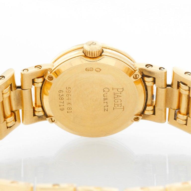 Women's Piaget Ladies Yellow Gold Diamond Watch For Sale