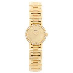 Piaget Ladies Yellow Gold Diamond Watch