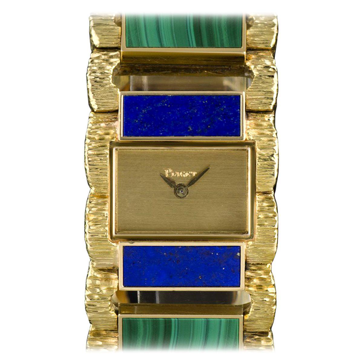 Piaget Lapis Lazuli Malachite Set Manual Wind Wristwatch