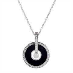 Piaget Limelight Diamond and Onyx White Gold Pendant Necklace