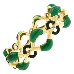 Piaget Malachite and Onyx Bracelet