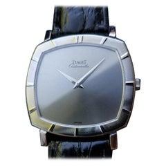 Piaget Men's 18k White Gold Ultra-Thin Automatic 12423 Dress Watch c.1960s MS208