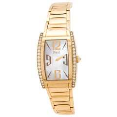 Piaget Mother of Pearl 18K Rose Gold Limelight P10266 Women's Wristwatch 27 mm