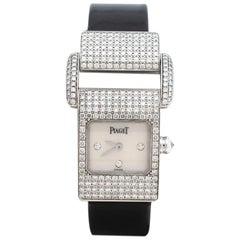 Piaget Mother of Pearl 18K White Gold Diamond Women's Wristwatch 17MM
