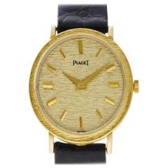 Piaget Oval 9821 18 Karat Manual Watch