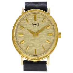 Piaget Oval 9821, Gold Dial, Certified and Warranty