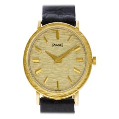 Piaget Oval 9821, Black Dial, Certified and Warranty