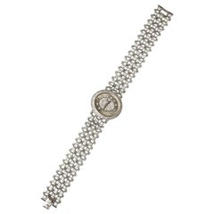 Piaget Piece Unique 1960s Diamond Set 18 Karat White Gold Bracelet Wristwatch