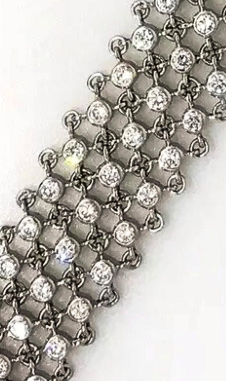 Piaget Piece Unique 1960s Diamond Set 18 Karat White Gold Bracelet Wristwatch In Good Condition For Sale In New york, NY
