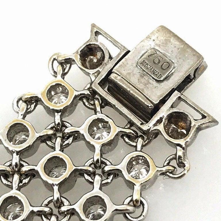 Piaget Piece Unique 1960s Diamond Set 18 Karat White Gold Bracelet Wristwatch For Sale 1