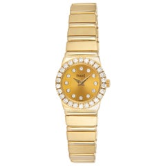 Piaget Polo 18 Karat Yellow Gold Diamond Ladies Watch 8296 C with Box