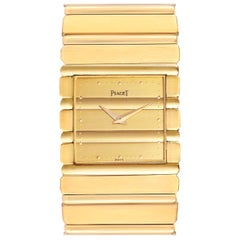 Piaget Polo 18 Karat Yellow Gold Quartz Men's Watch 7131