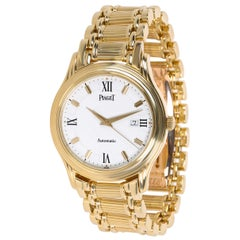 Piaget Polo 24001 M 501 D Unisex Watch in 18 Karat Yellow Gold