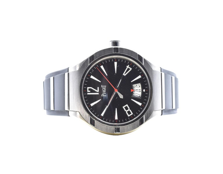 Piaget Polo 45 Titanium Watch Ref. GOA34011 In Excellent Condition For Sale In Scottsdale, AZ