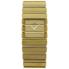 Piaget Polo 7131 C701 18 Karat Yellow Gold Quartz Watch