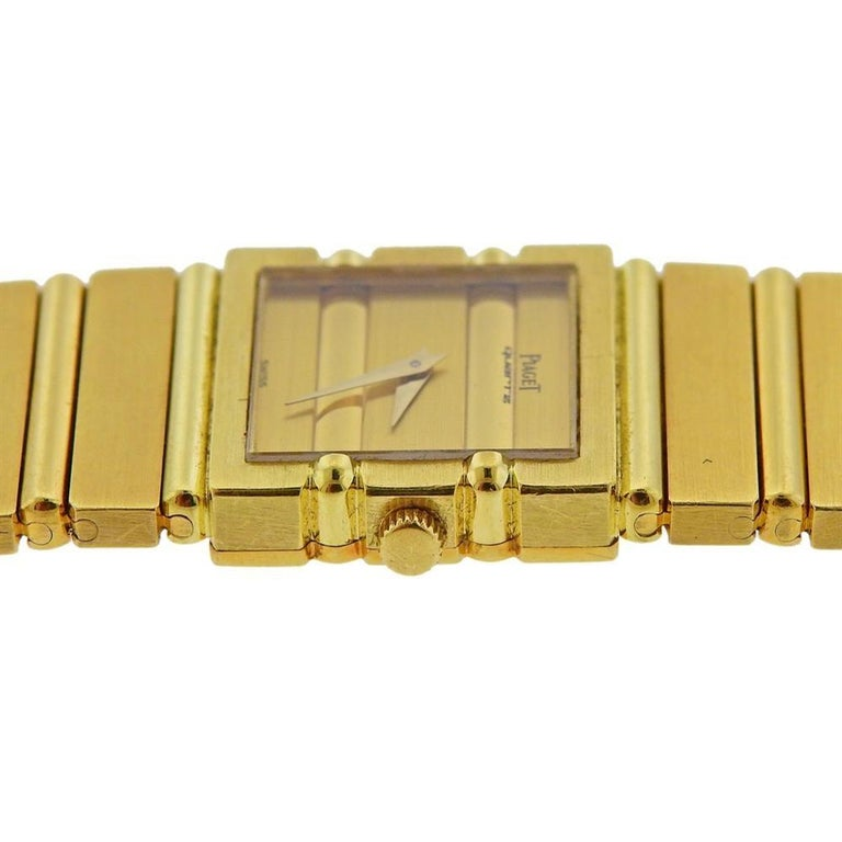 Piaget Polo Gold Watch 8131 C 701 In Excellent Condition For Sale In New York, NY