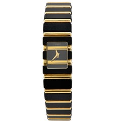 Piaget Polo in Anodized Black and Gold 18 Karat Yellow Gold, Quartz