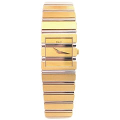 Piaget Polo Square 18 Karat White Gold and Yellow Gold Watch