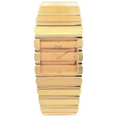 Piaget Polo Square 18 Karat Yellow Gold Watch