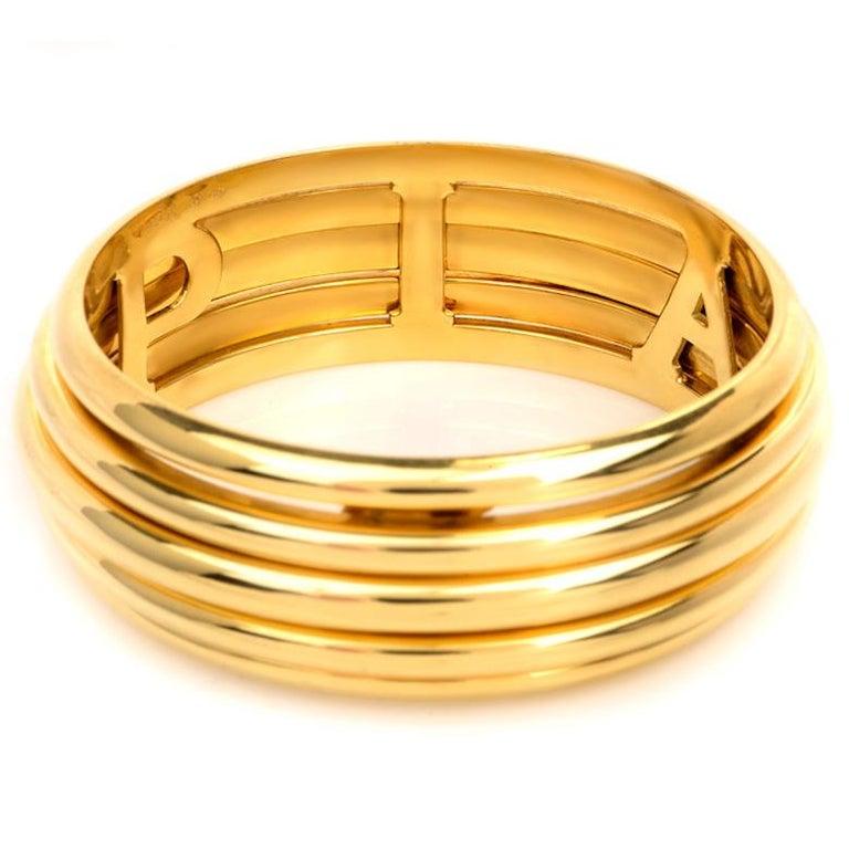 "CRISS CROSS CUFF 7.5/"" Bangle Bracelet in 18k Yellow Gold Over RARE /& Estate"