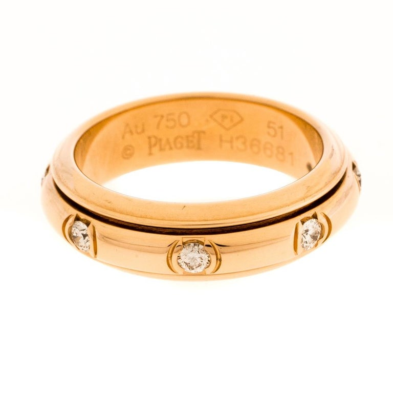 Show your love for fine artistry and luxury accessories with this stunning creation from Piaget that is made from 18K rose gold. One of the most popular collections from Piaget is their 'Possession' collection which is defined by rotating rings. We