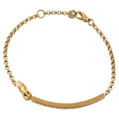 Piaget Possession Diamond 18K Yellow Gold Chain Link Bracelet