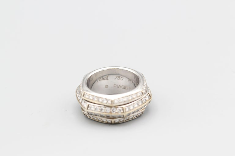 Piaget Possession Diamond and 18 Karat White Gold Band In Good Condition For Sale In New York, NY