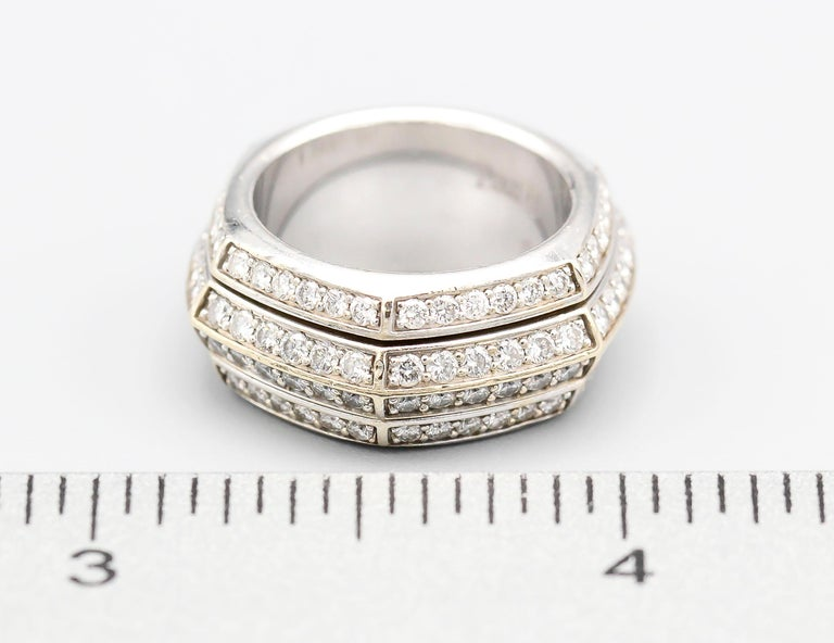 Women's Piaget Possession Diamond and 18 Karat White Gold Band For Sale