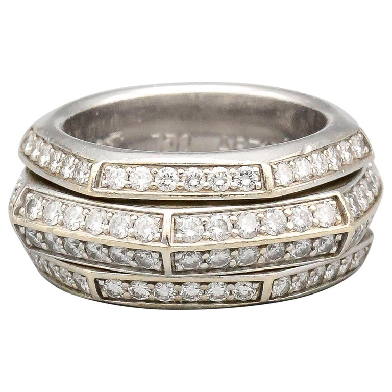 Piaget Possession Diamond and 18 Karat White Gold Band For Sale