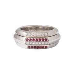 Piaget Possession Diamond Ruby White Gold Band Ring