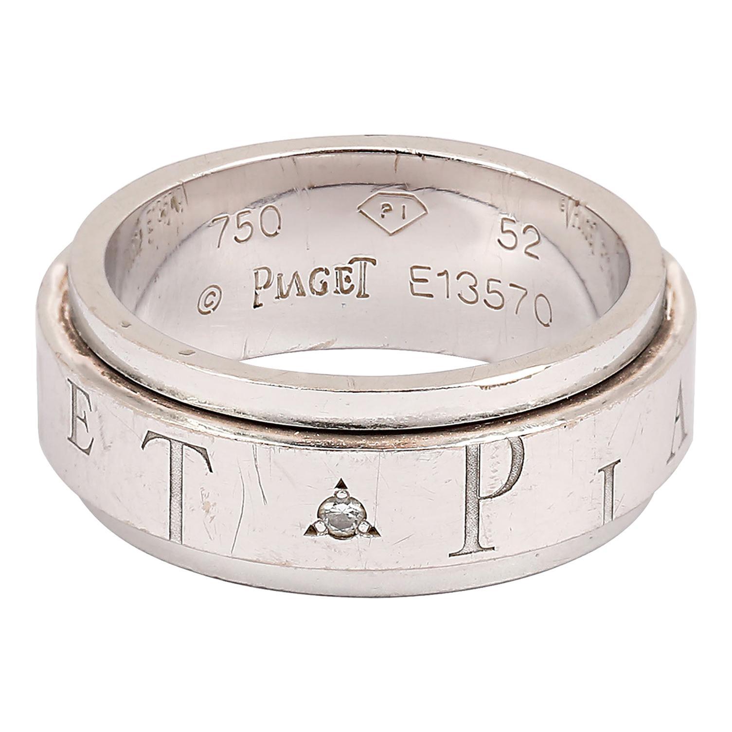 Piaget Possession Diamond Spinning 18 Karat White Gold Ring