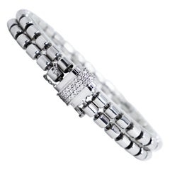 Piaget Possession Double Bandeau 18 Carat White Gold and Diamond Bracelet