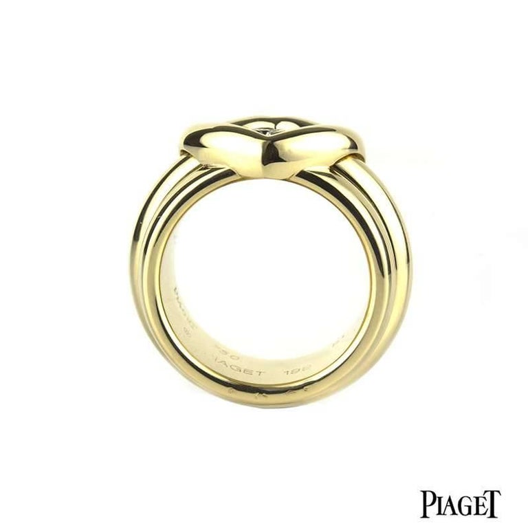Piaget Possession Heart Shaped Spinning Diamond Ring In Excellent Condition For Sale In London, GB