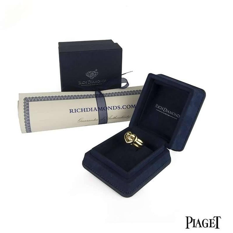 Women's Piaget Possession Heart Shaped Spinning Diamond Ring For Sale