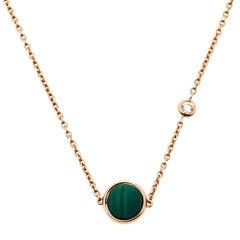 Piaget Possession Malachite Diamond 18K Rose Gold Necklace