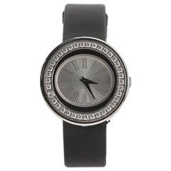 Piaget Possession Quartz Watch White Gold and Satin with Diamond Bezel 29