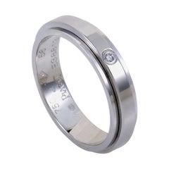 Piaget Possession Womens 18 Karat White Gold 1 Diamond Band Ring