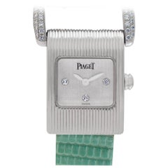 Piaget Protocol 5222 18 Karat White Gold N/A Dial Quartz Watch