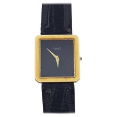 Piaget Protocole 18 Karat Yellow Gold Manual Black Dial Ladies Watch 9154