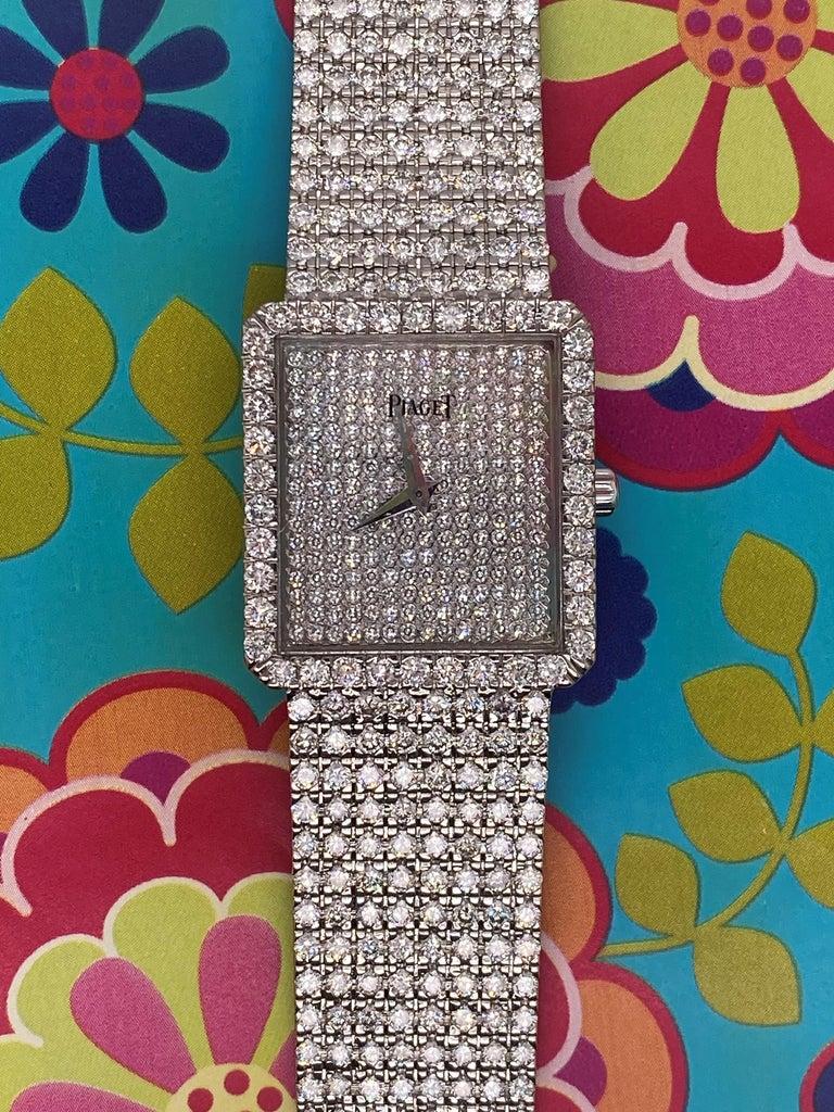 Piaget Protocole 18 Karat White Gold and Diamond Ref 9150, circa 1980 For Sale 5