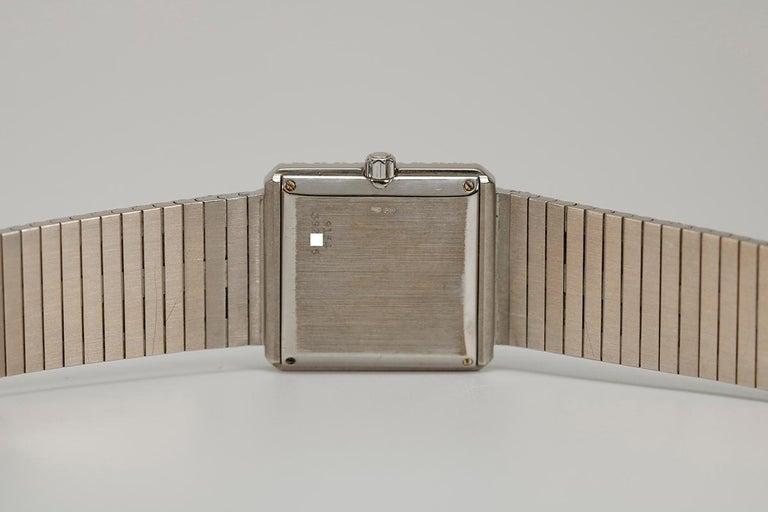Piaget Protocole 18 Karat White Gold and Diamond Ref 9150, circa 1980 For Sale 6